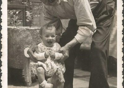 1944: With granpa Miquel