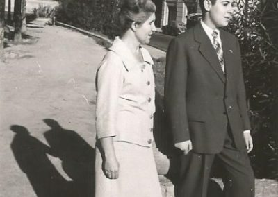 1957: With mom the first day I wore long pants