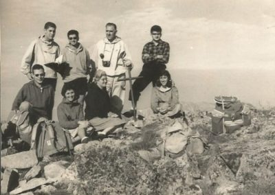 1959:At the top of Puigpedrós (family excursion)