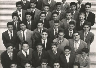1960: Students of the Pre-University course at La Salle Bonanova