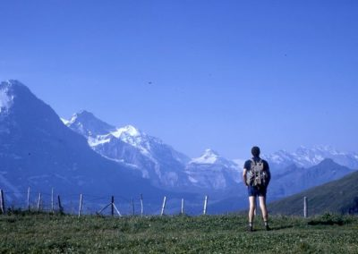 1974: Looking at the Eiger, the Mönch and the Jungfrau