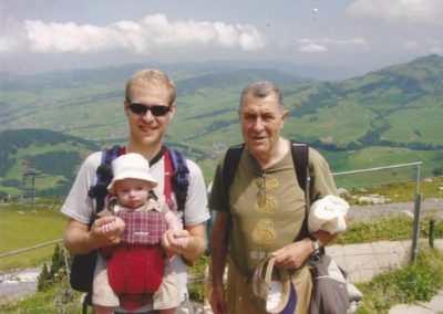2005: Manuel, Marc and Pau Castellet in Appenzell (Switzerland)