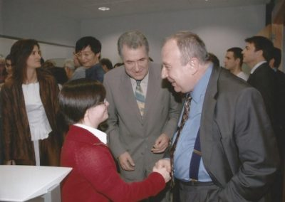 2008: At the CRM with the Secretary of State for Universities and Mari Paz