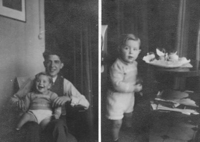 1946: With my godfather and the Easter Cake