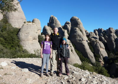 2011: With Aina i Núria in Montserrat